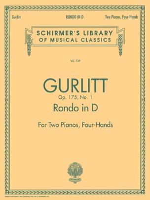 Rondo en ré majeur Op. 175-1. 2 Pianos Cornelius Gurlitt laflutedepan