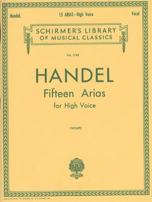 HAENDEL - 15 Arias. Aloud - Sheet Music - di-arezzo.co.uk