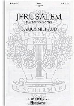 Jerusalem MILHAUD Partition Chœur - laflutedepan