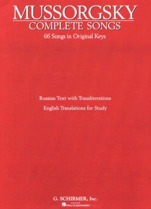 Complete Songs - Modest Moussorgsky - Partition - laflutedepan.com