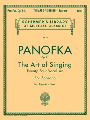 Heinrich Panofka - Art Of Singing Op. 81 Mezzo Or Tenor - Sheet Music - di-arezzo.com