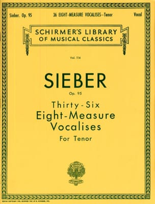 Ferdinand Sieber - 36 8-Measure Tenor Vocalises Op. 95 - Sheet Music - di-arezzo.com