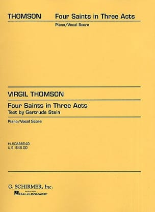 Virgil Thomson - 4 Saints In 3 Acts - Sheet Music - di-arezzo.co.uk