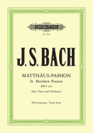 BACH - St. Matthew Passion - BWV 244 - Sheet Music - di-arezzo.co.uk