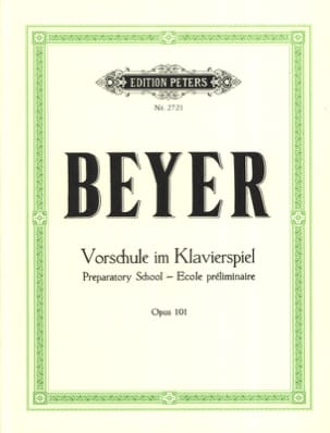Ferdinand Beyer - Vorschule Im Klavierspiel Opus 101 - Sheet Music - di-arezzo.co.uk