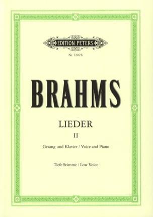 Lieder Volume 2. Voix Grave - Johannes Brahms - laflutedepan.com