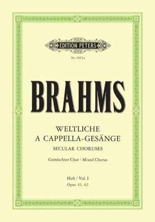 Weltliche a Cappella Gesänge 1 - Johannes Brahms - laflutedepan.com