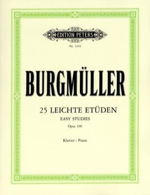 25 Leichte Etüden Opus 100 Frédéric Burgmuller Partition laflutedepan