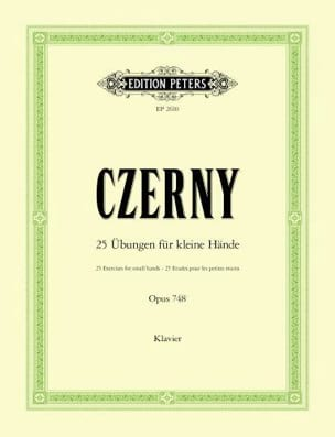CZERNY - 25 Exercises For Small Hands Opus 748 - Sheet Music - di-arezzo.com