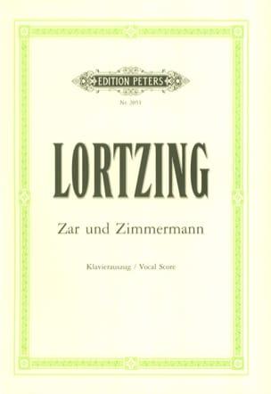 Zar Und Zimmermann - Albert Lortzing - Partition - laflutedepan.com