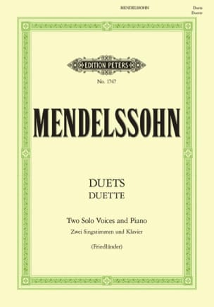 MENDELSSOHN - Duette. 19 Duos - Sheet Music - di-arezzo.co.uk