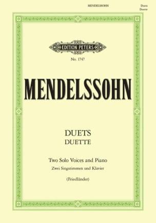 MENDELSSOHN - Duette. 19 Duos - Partition - di-arezzo.fr