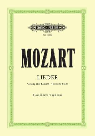 MOZART - 50 Lieder. Voix Haute - Partition - di-arezzo.fr