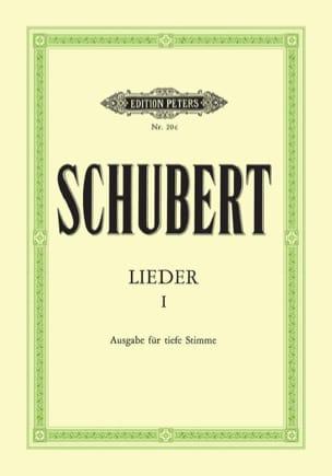 Lieder Volume 1 - Voix Grave - SCHUBERT - Partition - laflutedepan.com