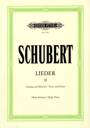 SCHUBERT - Lieder Volume 2 - High Voice - Sheet Music - di-arezzo.com