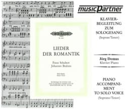 SCHUBERT - Lieder Der Romantik High Voice. CD - Sheet Music - di-arezzo.com