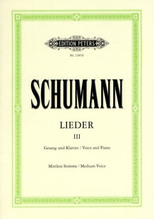 SCHUMANN - Lieder Volume 3. Average Voice - Sheet Music - di-arezzo.com