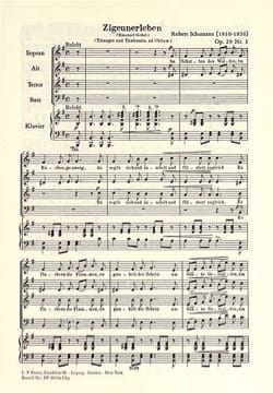 SCHUMANN - Zigeunerleben Opus 29-3 - Sheet Music - di-arezzo.co.uk