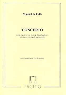 Concerto. PARTIE SOLISTE - Manuel de Falla - laflutedepan.com