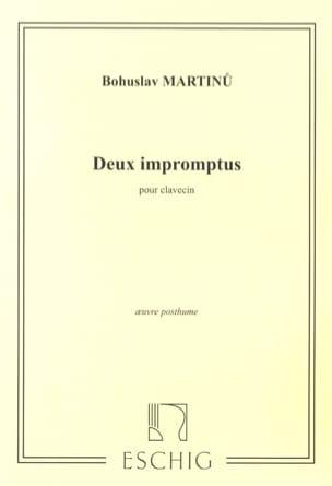 2 Impromptus. - Bohuslav Martinu - Partition - laflutedepan.com
