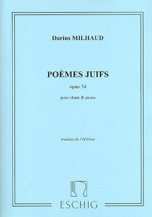 Poèmes Juifs Opus 34 - Darius Milhaud - Partition - laflutedepan.com