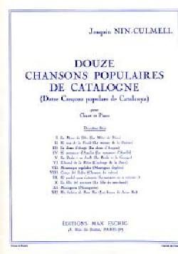12 chansons populaires de Catalogne Volume 2 - laflutedepan.com