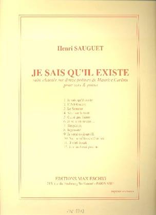Je Sais Qu'il Existe - Henri Sauguet - Partition - laflutedepan.com