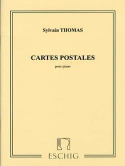 Cartes Postales Sylvain Thomas Partition Piano - laflutedepan