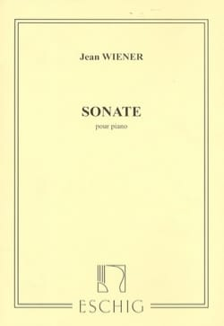 Sonate - Jean Wiener - Partition - Piano - laflutedepan.com