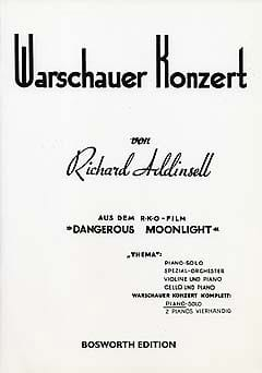 Warschauer Konzert. Richard Addinsell Partition Piano - laflutedepan