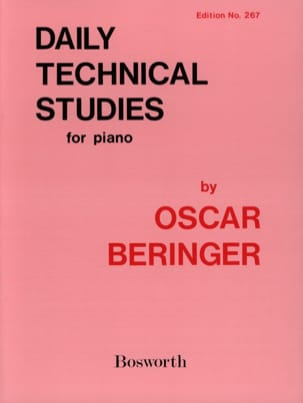 Oscar Beringer - Daily Technical Studies - Partition - di-arezzo.fr