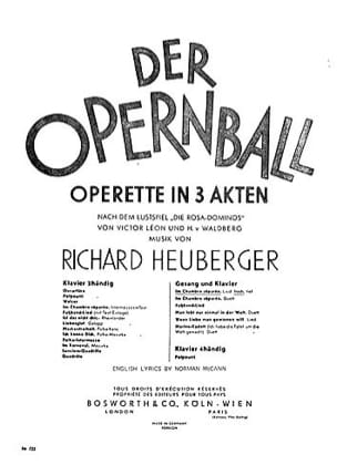 Richard Heuberger - Im Chambre Séparée. Opernball. - Partition - di-arezzo.fr