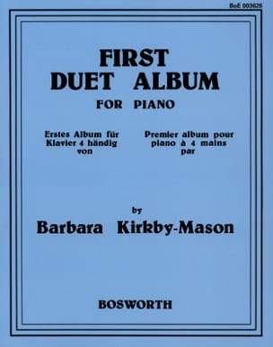 First Duet Album Barbara Kirkby-Mason Partition Piano - laflutedepan