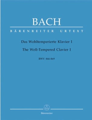 BACH - The Well Tempered Keyboard - Volume 1 - Sheet Music - di-arezzo.co.uk