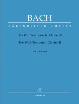 BACH - The Well Tempered Keyboard - Volume 2 - Sheet Music - di-arezzo.com