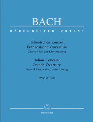BACH - Italienisches Konzert BWV 971 - Französischer Ouvertüre BWV 831 - Sheet Music - di-arezzo.com