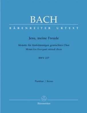 BACH - Motet N° 3. Jesu, Meine Freude BWV 227 - Partition - di-arezzo.fr