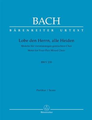 Jean-Sébastien Bach - Motet N° 6 Lobet Den Herrn BWV 230 - Partition - di-arezzo.fr