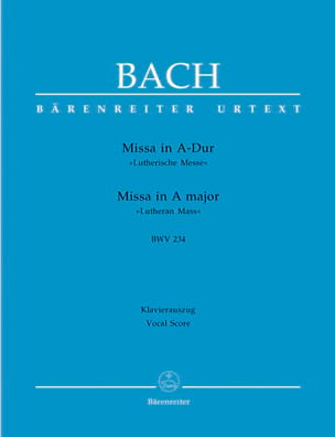 BACH - Missa A-Dur Lutherische Messe. BWV 234 - Sheet Music - di-arezzo.com