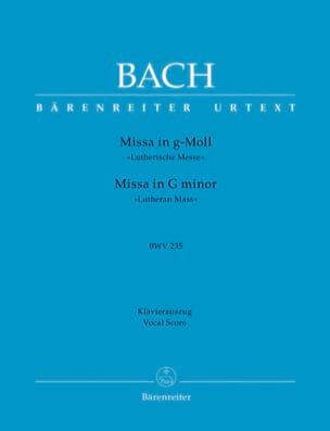 BACH - Missa G-Moll Lutherische Messe. BWV 235 - Partition - di-arezzo.fr