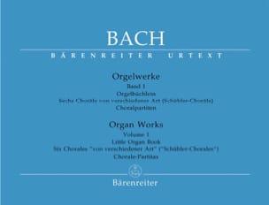 BACH - Orgelwerke. Band 1. Urtext Der Neuen Bach-Ausgabe. - Partition - di-arezzo.fr
