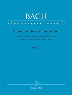 BACH - Motet No. 1. Singet Dem Herrn BWV 225 - Sheet Music - di-arezzo.co.uk