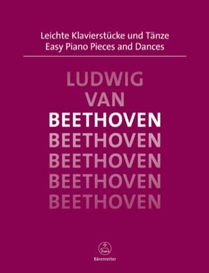 Easy Piano Pieces and Dances BEETHOVEN Partition Piano - laflutedepan