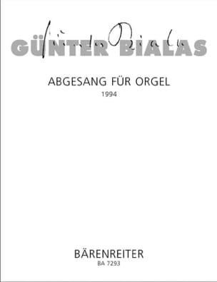 Günter Bialas - Abgesang Für Orgel Nach Orlando Lamento Für Orchester - Sheet Music - di-arezzo.com