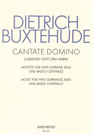 Cantate Domino Buxwv 12 BUXTEHUDE Partition Chœur - laflutedepan