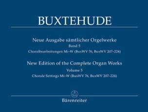 L'œuvre d'orgue, Volume 5 BUXTEHUDE Partition Orgue - laflutedepan