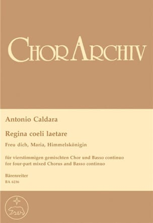 Regina Coeli Laetare Antonio Caldara Partition Chœur - laflutedepan
