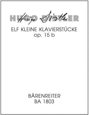 Hugo Distler - 11 kleine Klavierstücke für die Jugend (1936) - Partition - di-arezzo.fr