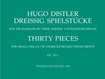 Hugo Distler - 30 Pieces Op. 18-1 1938 - Sheet Music - di-arezzo.co.uk