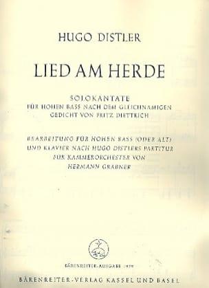 Lied Am Herde Op. 21-1 - Hugo Distler - Partition - laflutedepan.com